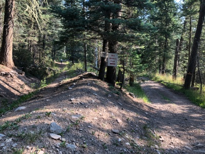 follow signs to stay on trail