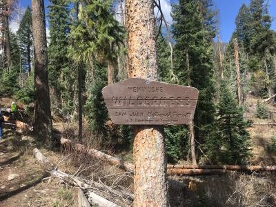Weminuche Wildnerness Sign