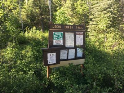Leche Creek Trail Sign