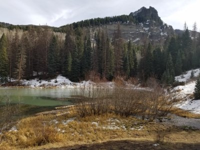 Opal Lake with snow